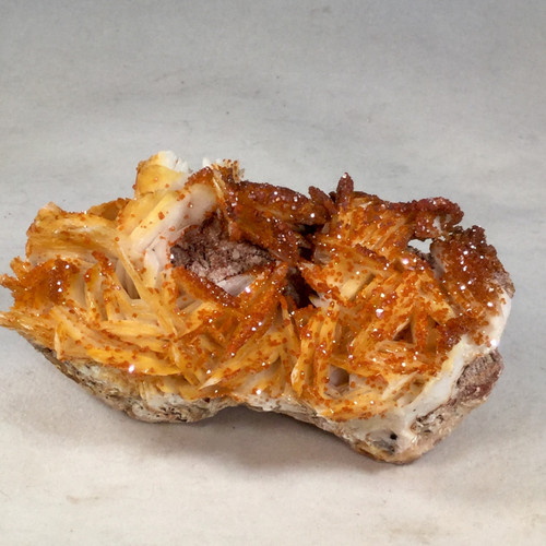 Vanadinite Crystals on White Barite , Near Mibladen,Khenifra, Morocco 228 grams