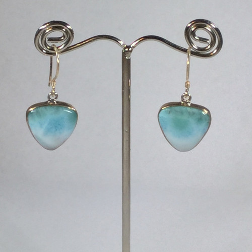 Larimar Drop Earrings in Sterling Silver 5.8 grams