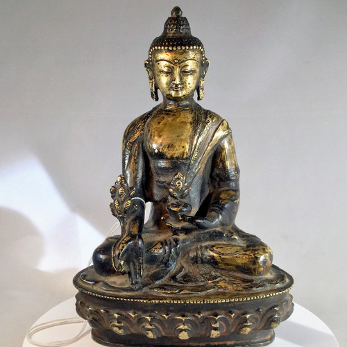 SOLD - 18th Century Bronze Buddha Nepal(Sold)