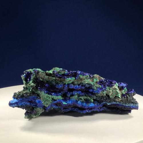 SOLD - Azurite with Malachite, Hunan Province, China.