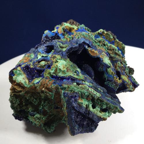 SOLD - Azurite with Malachite, Hunan Province, China