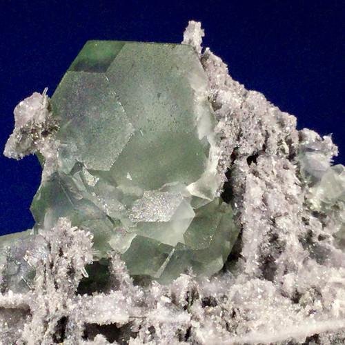 SOLD- Fluorite on Needle Quartz ,581 grams