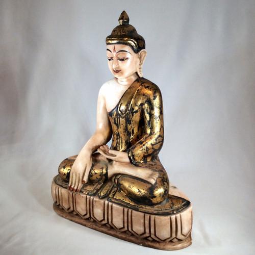 Mandalay Style Alabaster Buddha, Burma, 19th Century