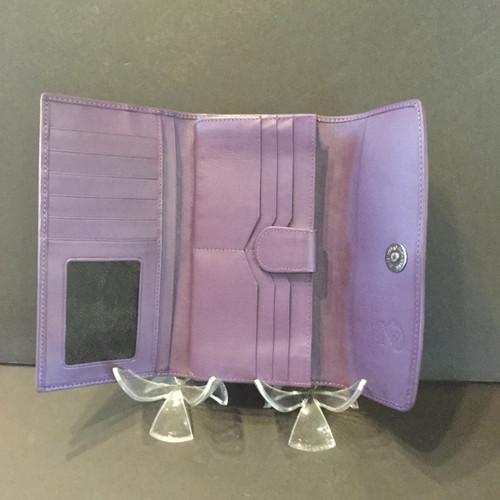 Women's Geuine White pearl Stingray Leather Tri-fold