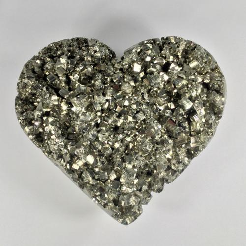 Perfectly Shape Peruvian Pyrite Heart.