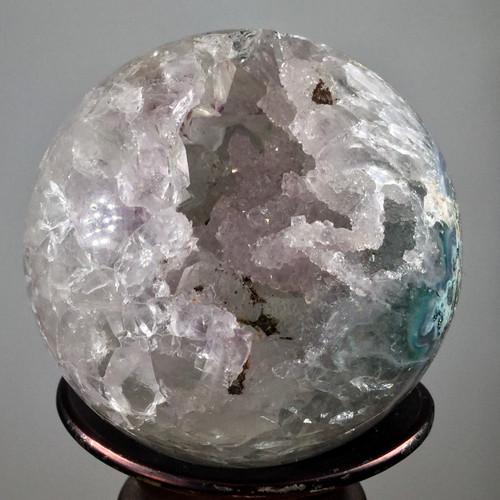 Druzy Amethyst Sphere, 206 grams