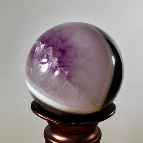 Druzy Amethyst Sphere, Uruguayan, 246 grams