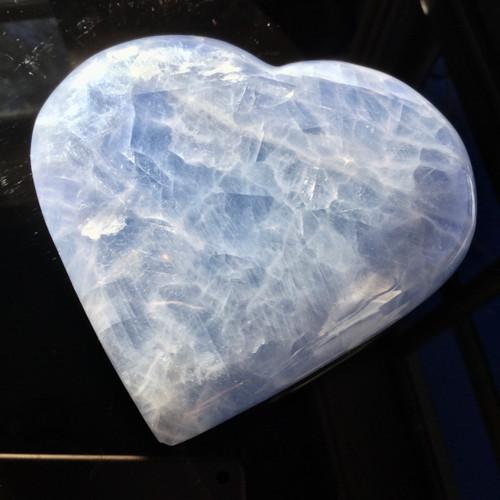 Celestite Heart, 594 grams