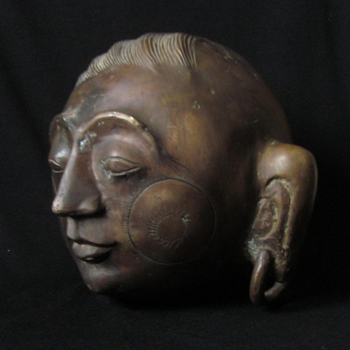 Bronze Head From Tibetan Region, Hunan Province, China-SOLD