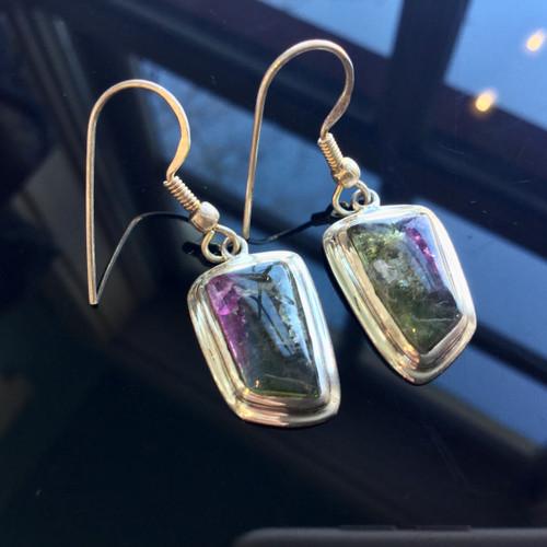 Tourmaline Earrings 26.5ct, Sterling Silver