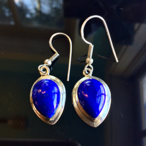 AAA Lapis Earrings, 30 ct