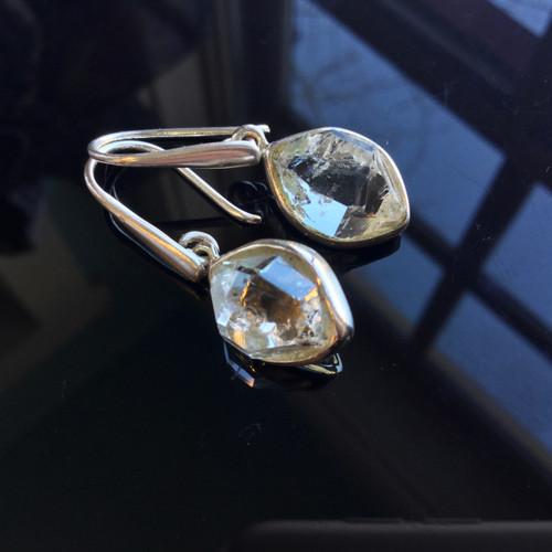 Herkimer Diamond Quartz Earrings, 25 ct