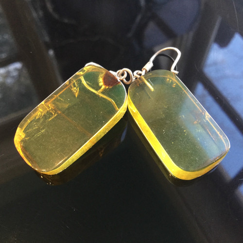 Amber Earrings, Mexico,32 ct