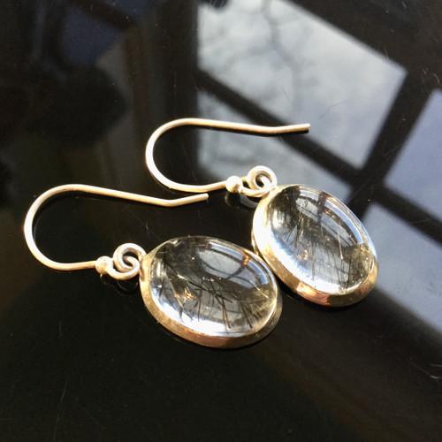 Rutile Quartz Earrings, 19:50 ct
