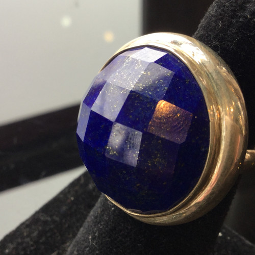 Prism Cut Lapis Ring AAA, Size  8 and 71/2, 131ct