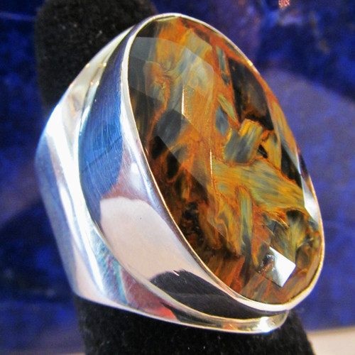 Faceted Pietersite Ring Size 9 1/2 (Sold )