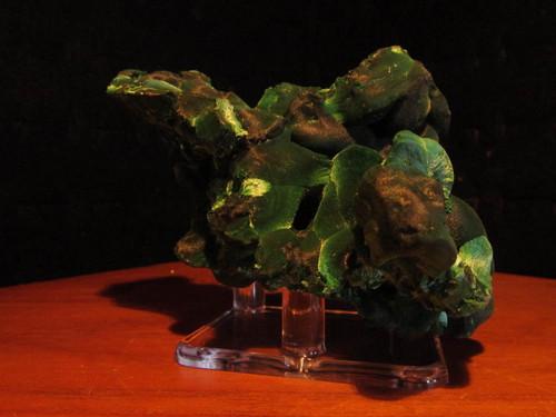 Fiburous Malachite with Stand