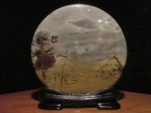 Chinese Picture Jasper on Stand 3.5 inch-SOLD