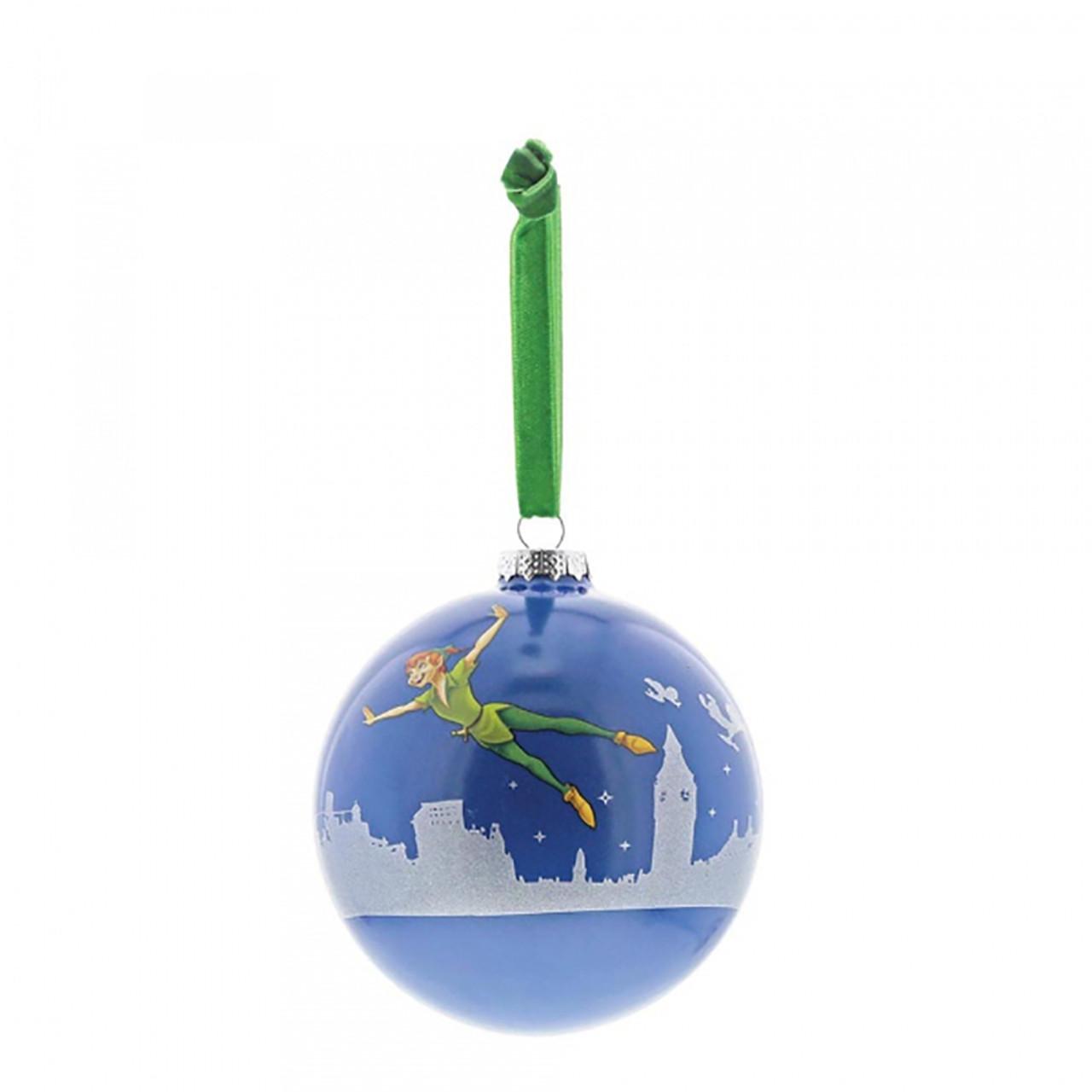 Hanging Christmas Ornaments Silhouette.Disney Peter Pan Hanging Bauble 10cm