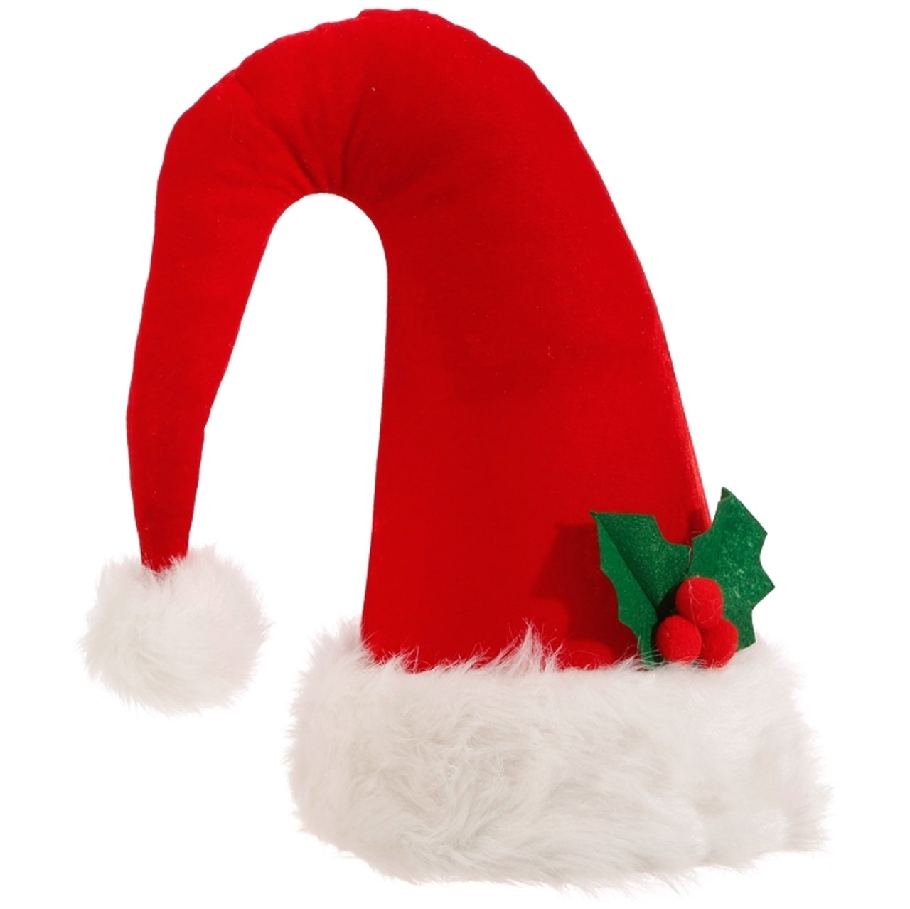 Santa Hat Christmas Tree Topper: Santa Hat Tree Topper-36cm