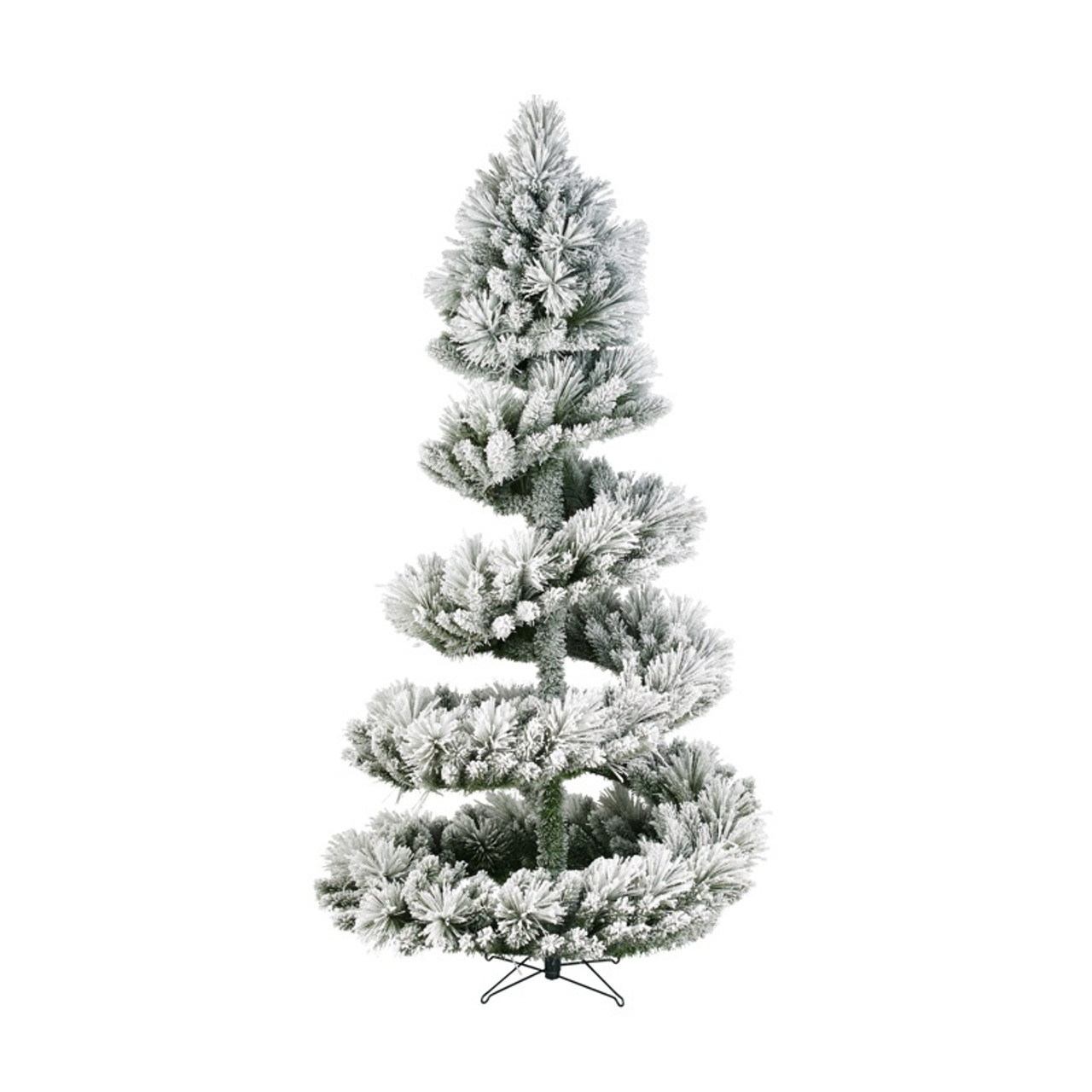 low priced 8ac9e d9b28 7.5FT Spiral Green Frosted Christmas Tree