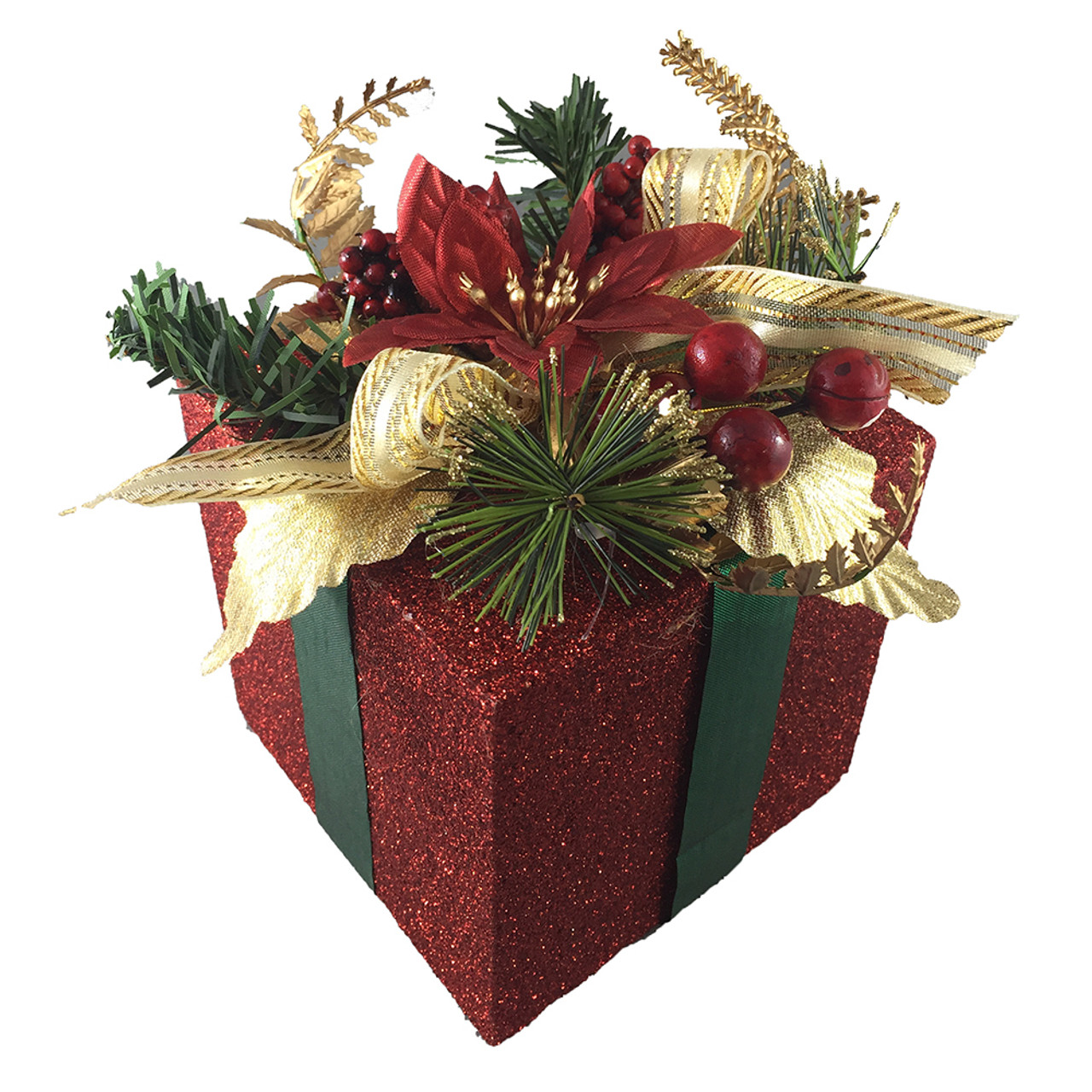 Red Christmas Gift Box Decoration 18 Cm