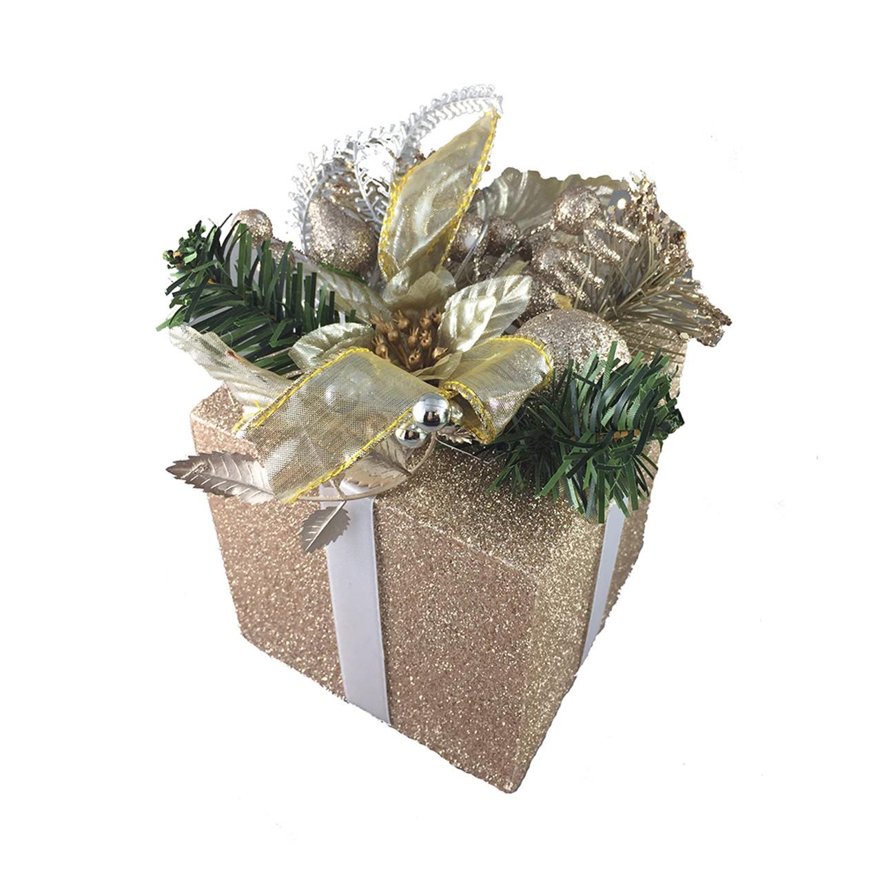 Champagne Christmas Gift Box Decoration
