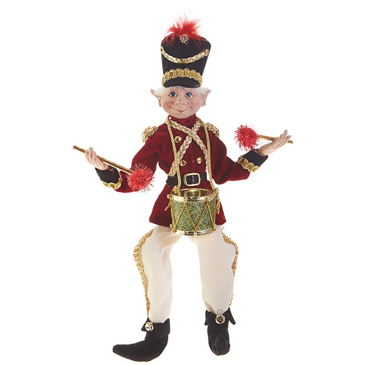 Christmas Drummer.Drummer Boy Christmas Elf 41cm