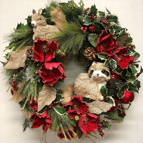 Fun ways to decorate with Christmas wreaths (hint: they're not just for the front door)