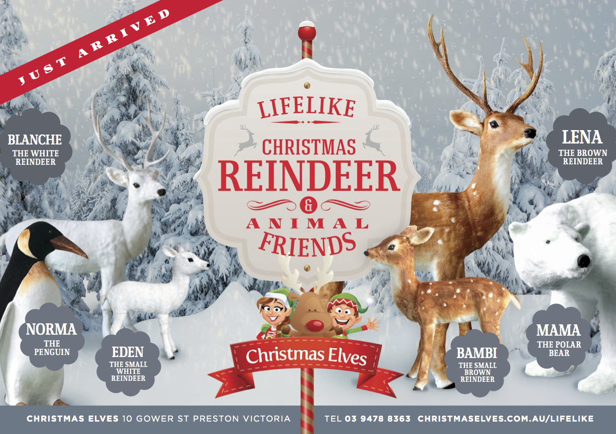 Christmas LifeLike Animals
