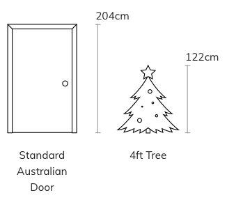 Christmas Trees Size Chart