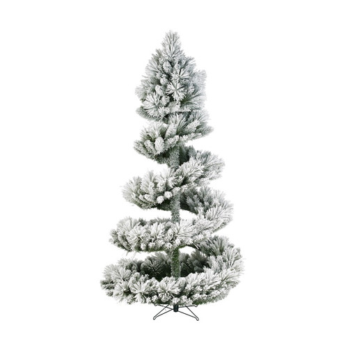 7 5ft Spiral Green Frosted Christmas Tree