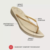 FitFlop™ iQUSHION™ Pearlised Ergonomic Flip-Flops Black about