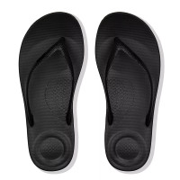 FitFlop™ iQUSHION™ Pearlised Ergonomic Flip-Flops Black top