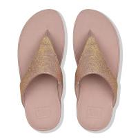 FitFlop™ Lottie Glitzy Toe-Thongs Rose Gold top
