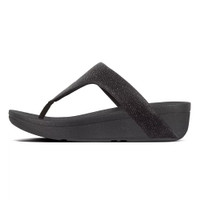 FitFlop™ Lottie Glitzy Toe-Thongs Black 2