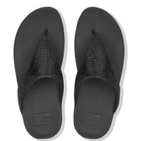 FitFlop™ Lottie Glitzy Toe-Thongs Black top