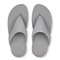 FitFlop™ Lottie Glitzy Toe-Thongs Silver top