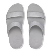 FitFlop™ Lottie Glitz™ Slide Silver top