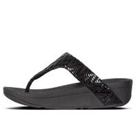 FitFlop™ Lottie Chevron Toe-Thongs Black side