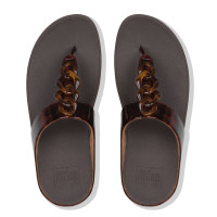 FitFlop™ Fino Turtle Shell Chocolate Brown Top View