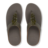 FitFlop™ Fino Turtle Shell Avocado Top View