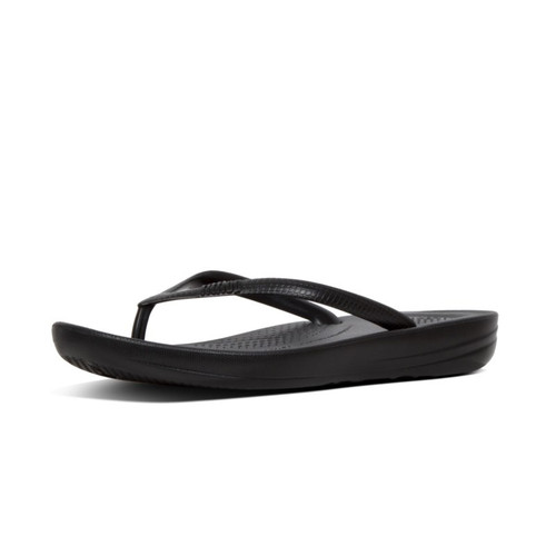 FitFlop™ iQUSHION™ Pearlised Ergonomic Flip-Flops Black