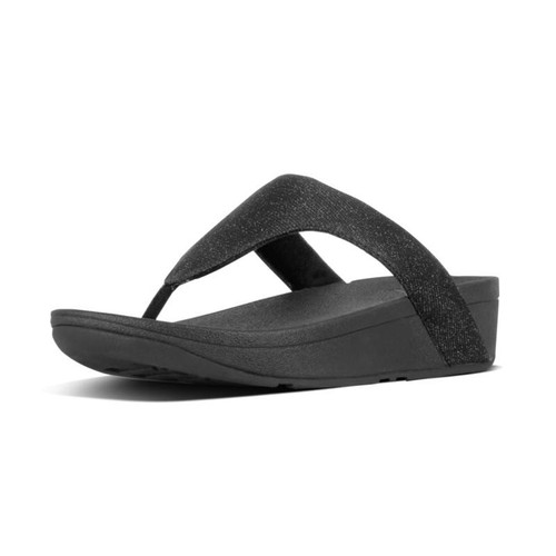 FitFlop™ Lottie Glitzy Toe-Thongs Black
