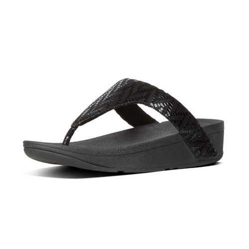 FitFlop™ Lottie Chevron Toe-Thongs Black