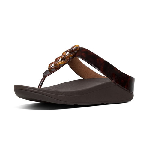 FitFlop™ Fino Turtle Shell Chocolate Brown
