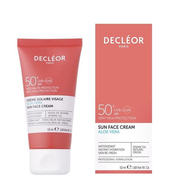 Decleor SPF50 SUN FACE CREAM - Aloe Vera