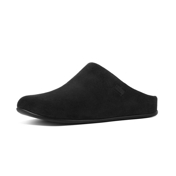 FitFlop Chrissie Shearling Black Slippers