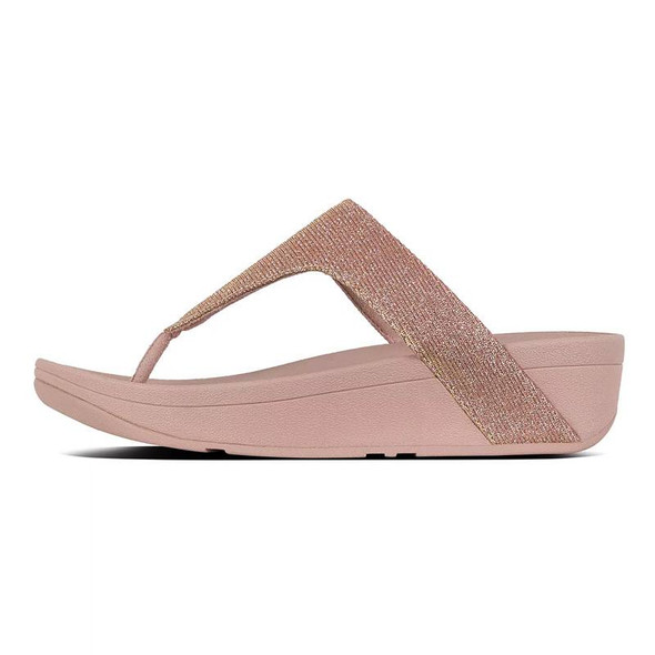 FitFlop™ Lottie Glitzy Toe-Thongs Rose Gold side