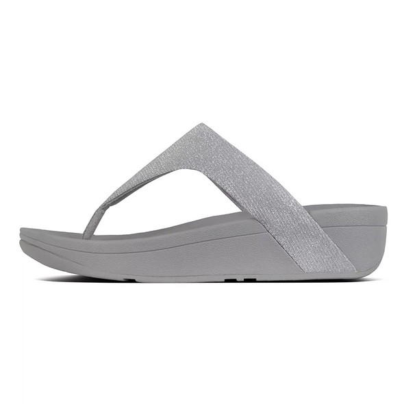FitFlop™ Lottie Glitzy Toe-Thongs Silver side